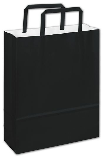 Bernini Black Florence Shoppers, 8 1/2 x 3 x 11
