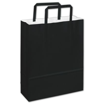 Bernini Black Florence Shoppers, 8 1/2 x 3 x 11""