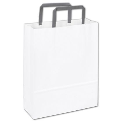 Wichelango White Florence Shoppers, 8 1/2 x 3 x 11