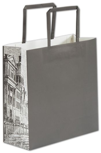 Gray District Square Shoppers, 10 x 4 x 10