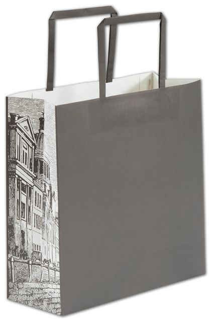 """Gray District Square Shoppers, 10 x 4 x 10"""""""