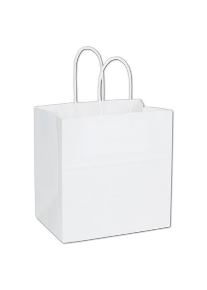 White Paper Shoppers Emerald, 10 x 5 x 10 1/2""