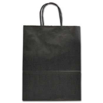 "Black Color-on-Kraft Shoppers, 10 x 5 x 13"""