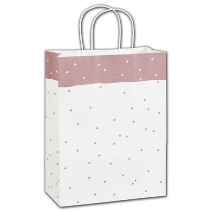 Rose Dots Shoppers, 10 x 5 x 13""