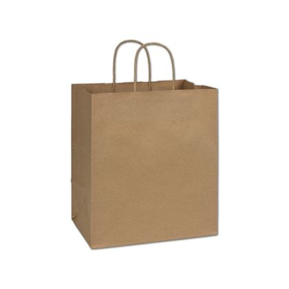 Recycled Kraft Paper Shoppers Bistro, 10 x 6 3/4 x 11 3/4""