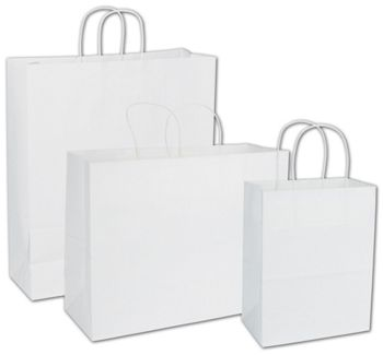 White Paper Shoppers Assortment, 3 Assorted Sizes