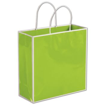 Lombard Lime Shoppers, 10 x 4 x 10