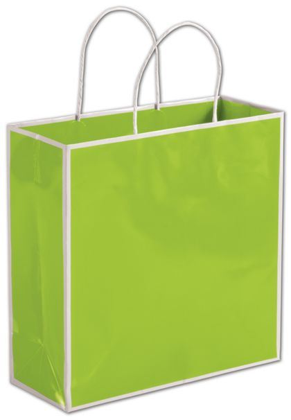 """Lombard Lime Shoppers, 10 x 4 x 10"""""""