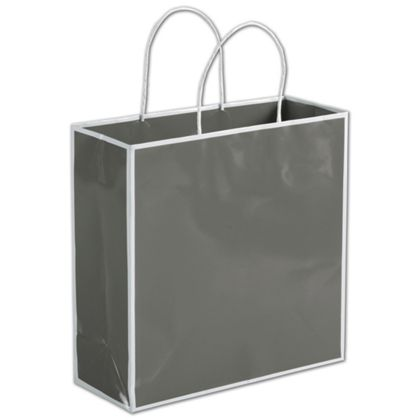 Slate Grey Shoppers, 10 x 4 x 10""