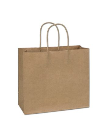 Kraft Paper Shoppers Imperial, 12 x 5 x 10 1/2
