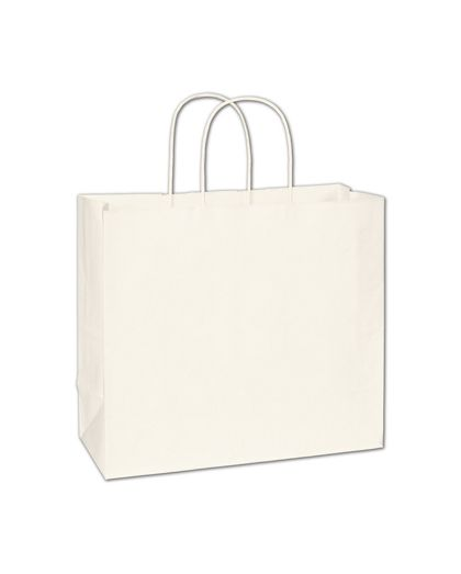 """White Paper Shoppers Imperial, 12 x 5 x 10 1/2"""""""