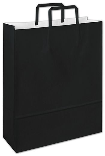 Bernini Black Florence Shoppers, 12 1/2 x 4 1/2 x 16