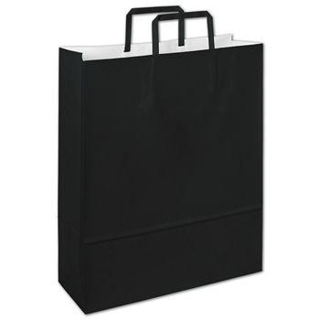 """Bernini Black Florence Shoppers, 12 1/2 x 4 1/2 x 16"""""""
