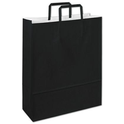 Bernini Black Florence Shoppers, 12 1/2 x 4 1/2 x 16
