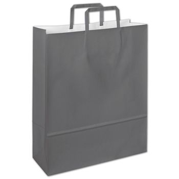 Galileo Grey Florence Shoppers, 12 1/2 x 4 1/2 x 16