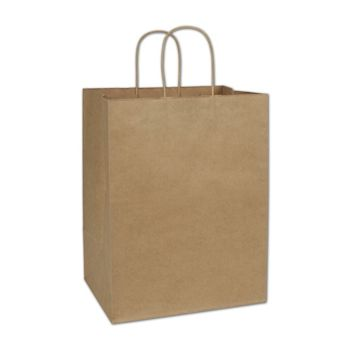 Kraft Paper Shoppers Regal, 12 x 9 x 15 1/2