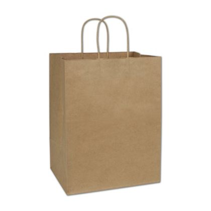 Recycled Kraft Paper Shoppers Regal, 12 x 9 x 15 1/2