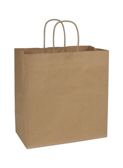 Kraft Paper Shoppers Star, 13 x 7 x 13""