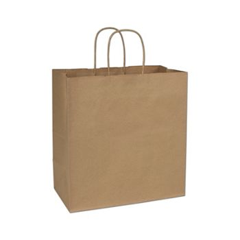 Recycled Kraft Paper Shoppers Star, 13 x 7 x 13