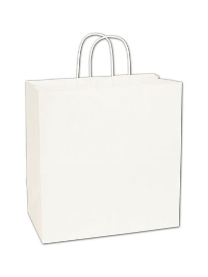 Recycled White Kraft Paper Shoppers Star, 13 x 7 x 13""