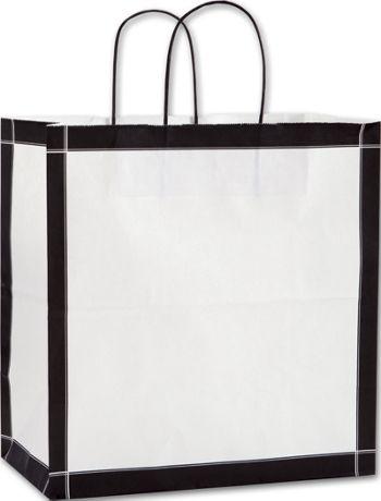 Black & White Vienna Shoppers, 13 x 7 x 13
