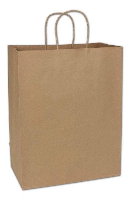 "Kraft Paper Shoppers Impala, 13 x 7 x 17"""