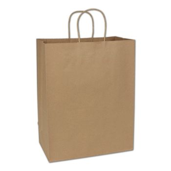 Recycled Kraft Paper Shoppers Impala, 13 x 7 x 17