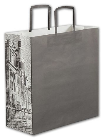 Gray District Square Shoppers, 14 x 6 x 14