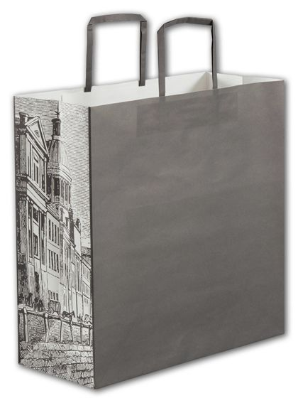 """Gray District Square Shoppers, 14 x 6 x 14"""""""