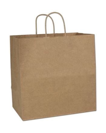 Kraft Paper Shoppers Royal, 14 x 8 x 14 1/2