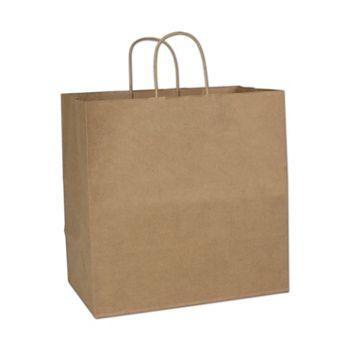 Kraft Paper Shoppers Royal, 14 x 8 x 14 1/2
