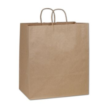 Kraft Paper Shoppers Take Home, 14 x 10 x 15 1/2