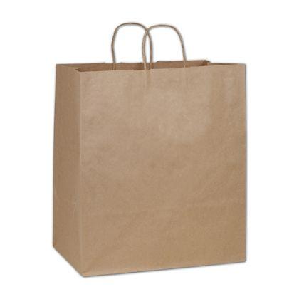 Kraft Paper Shoppers Take Home, 14 x 10 x 15 1/2