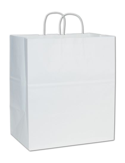 White Paper Shoppers Take Home, 14 x 10 x 15 1/2""