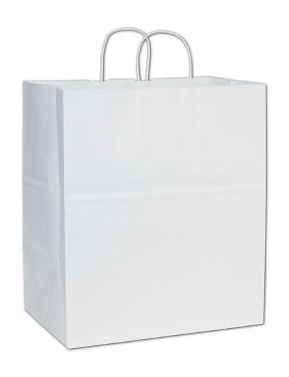 """White Paper Shoppers Take Home, 14 x 10 x 15 1/2"""""""