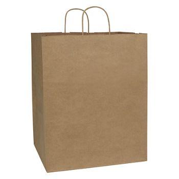 Kraft Paper Shoppers Empress, 14 x 12 x 17