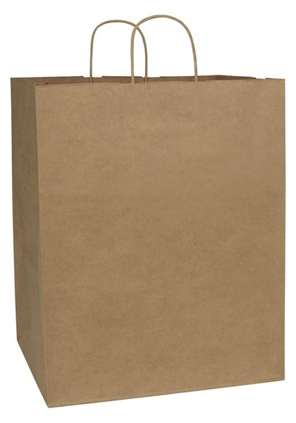 Kraft Paper Shoppers Empress, 14 x 12 x 17""