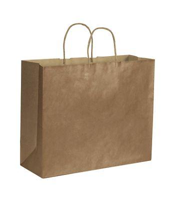 Copper Metallic on Kraft Shoppers, 16 x 6 x 12 1/2