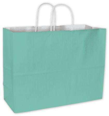"Aqua Cotton Candy Shoppers, 16 x 6 x 12 1/2"""