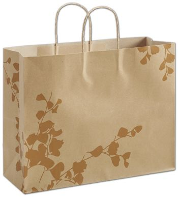 Botanical Charm Metallic Shoppers, 16 x 6 x 12 1/2