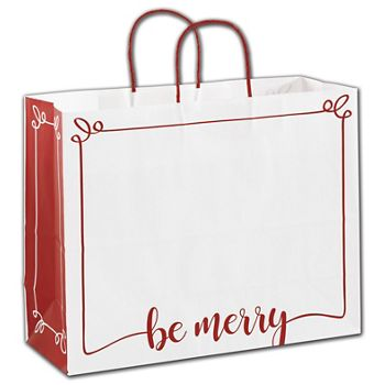 Be Merry Shoppers, 16 x 6 x 12 1/2