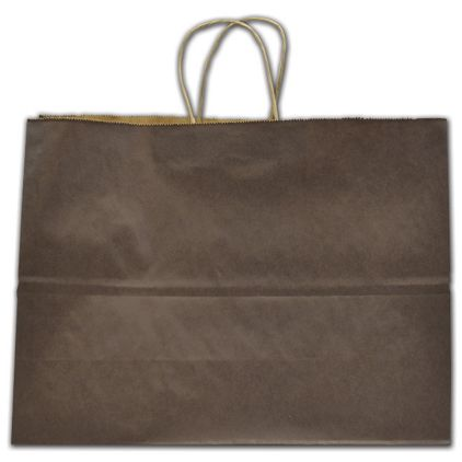 """Brown Color-on-Kraft Shoppers, 16 x 6 x 12 1/2"""""""