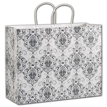 Damask Shoppers, 16 x 6 x 12 1/2""
