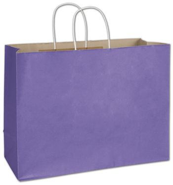 Electric Violet Radiant Shoppers, 16 x 6 x 12 1/2