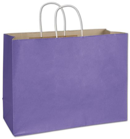"""Electric Violet Radiant Shoppers, 16 x 6 x 12 1/2"""""""