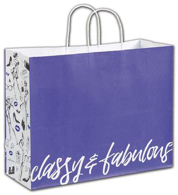 Classy & Fabulous Shoppers, 16 x 6 x 12 1/2
