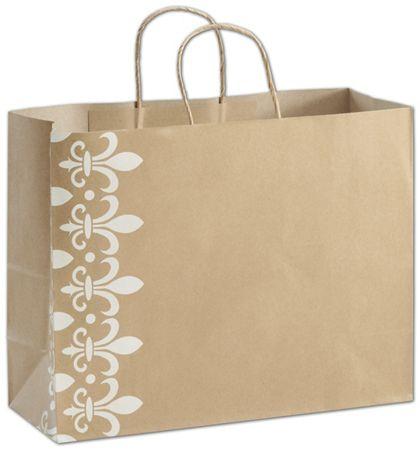 """Fleur-De-Lis Shoppers, 16 x 6 x 12 1/2"""""""