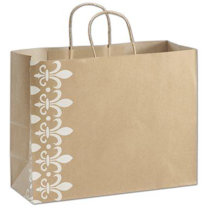 Fleur-De-Lis Shoppers, 16 x 6 x 12 1/2