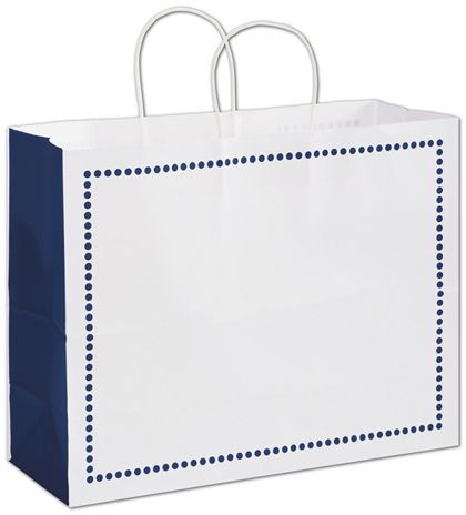 Madison Navy Shoppers, 16 x 6 x 12 1/2""
