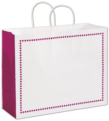 Madison Raspberry Shoppers, 16 x 6 x 12 1/2